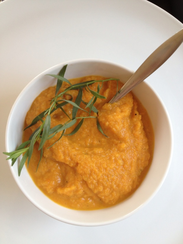 Chilled Carrot Tarragon soup