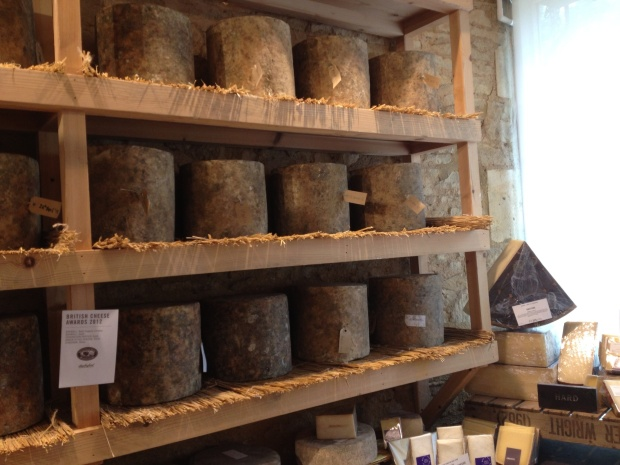 Cheese room at Daylesford
