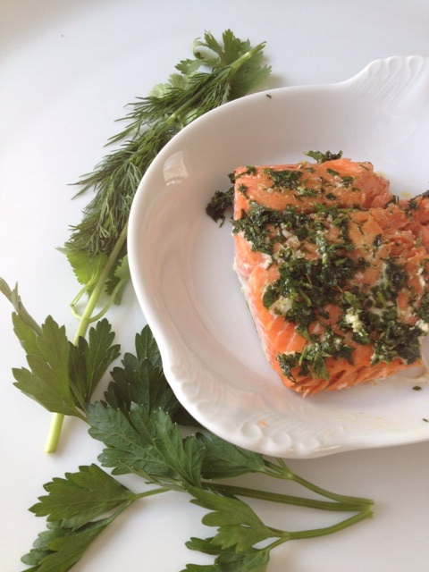 Wild Sockeye Salmon with Herbs